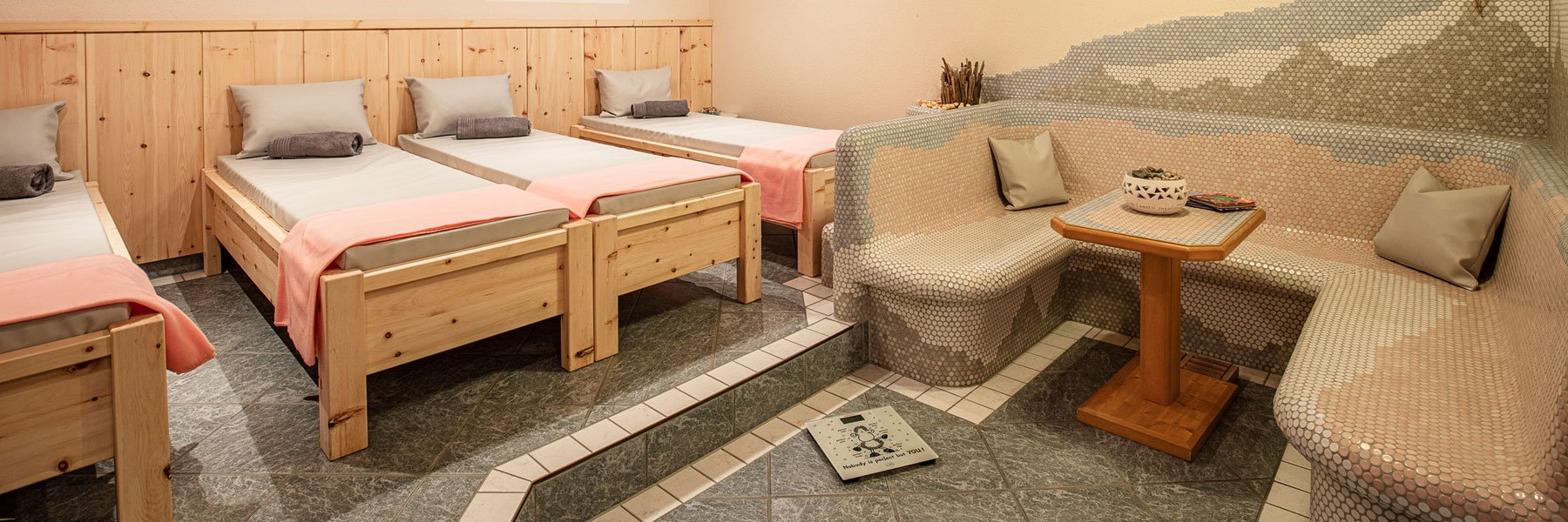 Wellnessbereich in der Sportpension Rubin